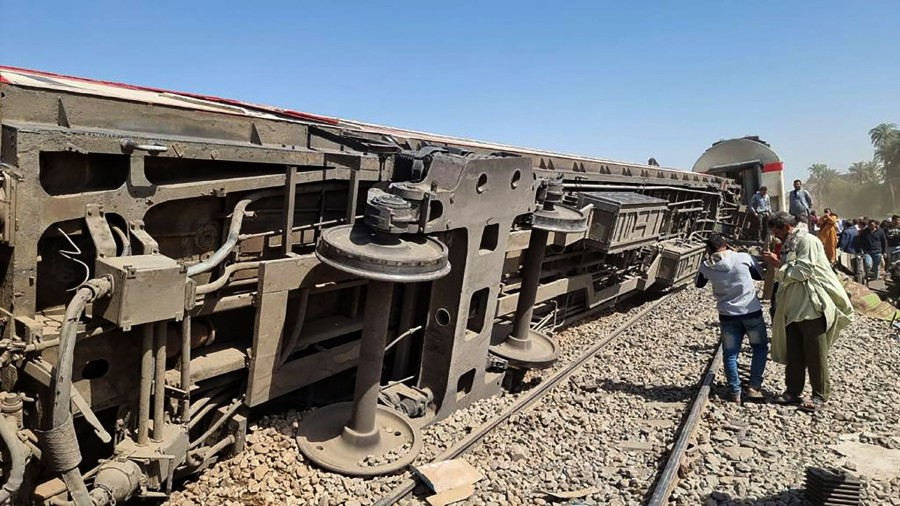 Egypt has been plagued with deadly train accidents in recent years that have been widely blamed on inadequate infrastructure and poor maintenance. - AFP pic