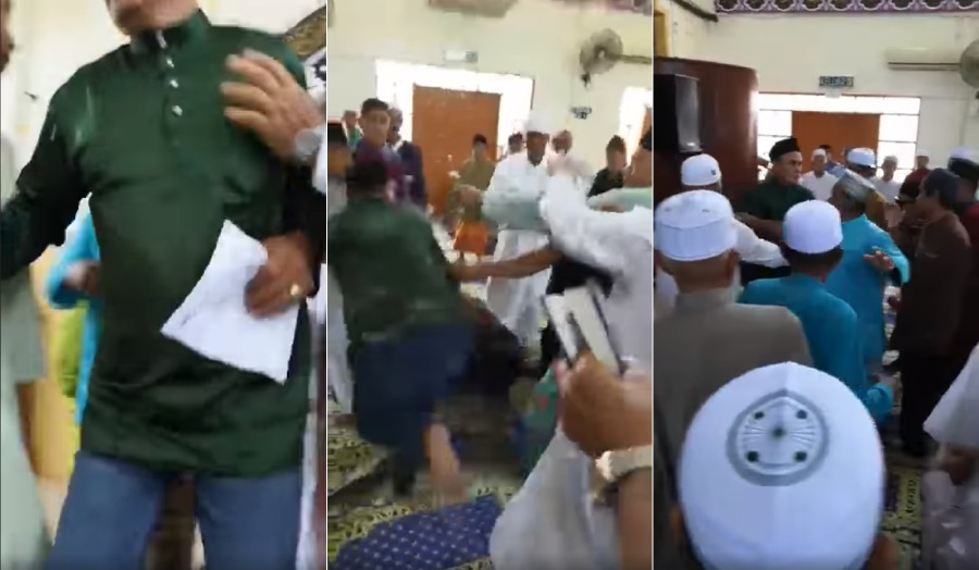 Watch: Fist fight erupts in Sandakan mosque during Friday