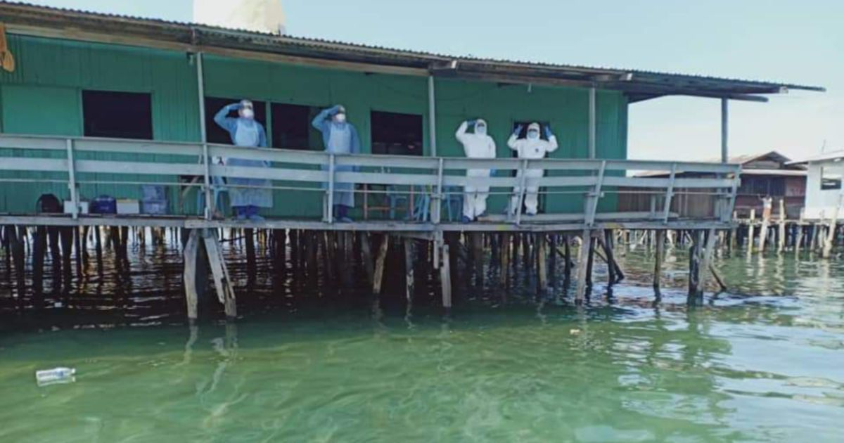 Health personnel 'camp' three days on Pulau Gaya to contain Covid-19