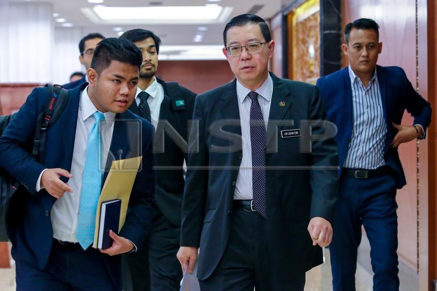 Finance Minister Lim Guan Eng is expected to table the 2019 Budget in Parliament on Nov 2. -NSTP/ASYRAF HAMZAH