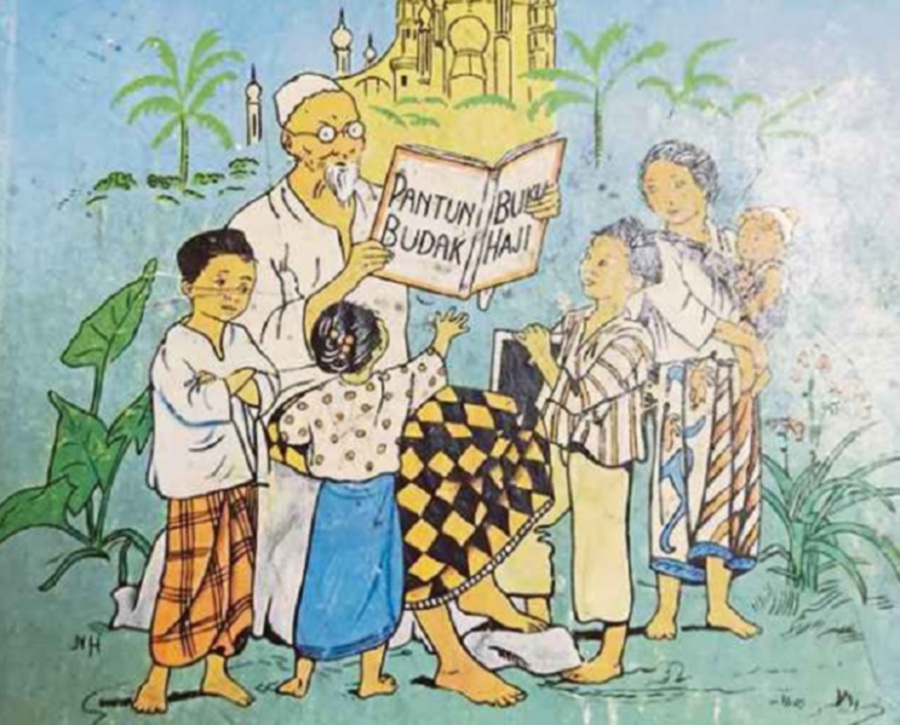 A.W. Hamilton's translation of English rhymes reflected the community in Malaya; Georgie Podgie became 'Awang Bawang', Taffy was a Welshman who became 'Ah Fi Orang China', and some rhymes reflected his fluency in Tamil too.
