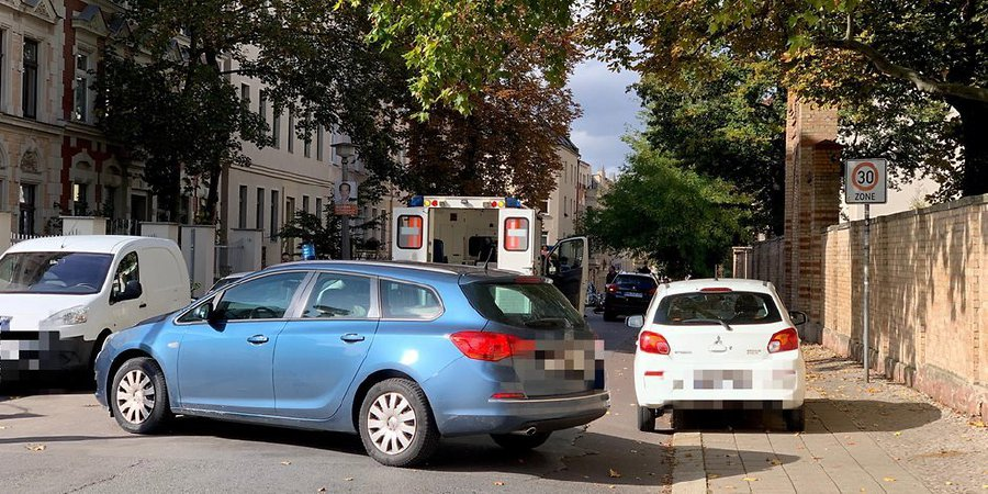 German police say at least two people were shot dead in the city of Halle. - Pic source: Twitter.