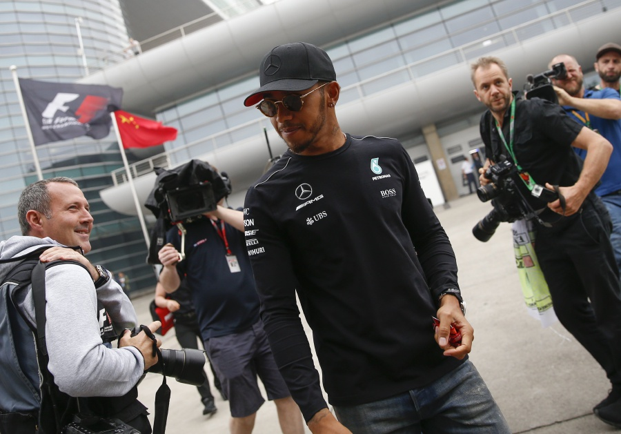 Mercedes have to raise game to meet ferrari challenge hamilton british formula one driver lewis hamilton of mercedes amg gp c arrives at the shanghai international circuit in shanghai china 06 april 2017 m4hsunfo