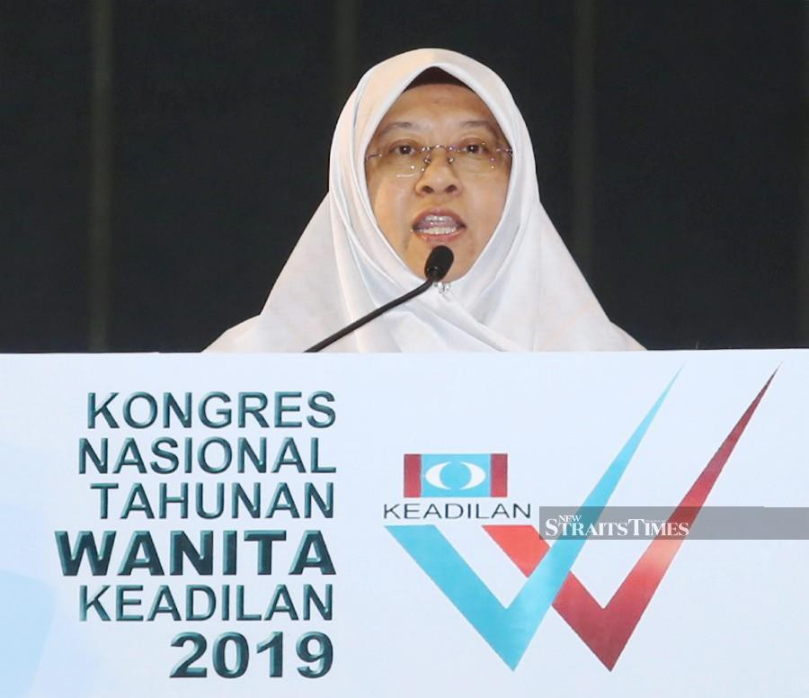 PKR Women's chief, Haniza Mohamed Talha said this was important for the movement to face the challenges that came in the way of the party, while helping to steer PKR forward. (NSTP/RASUL AZLI SAMAD)