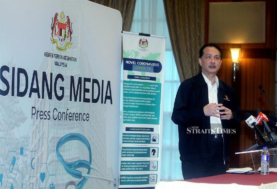 Health director-general Datuk Dr Noor Hisham Abdullah says the ministry's staff will assist with the screening for Covid-19 on the homeless. - NSTP/MOHD FADLI HAMZAH