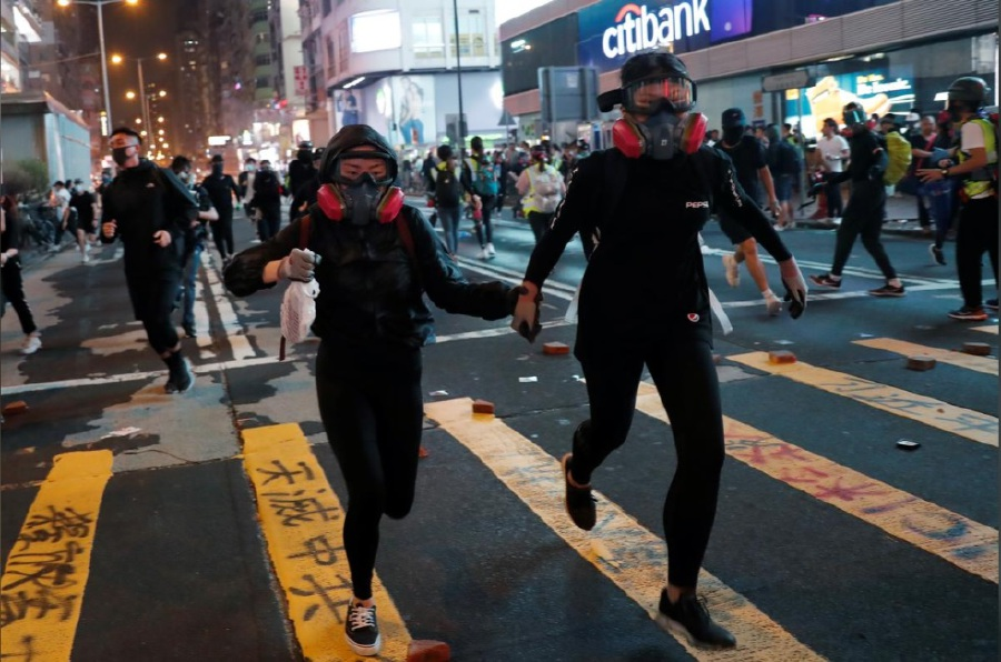 Hong Kong Halloween protests to test mask ban