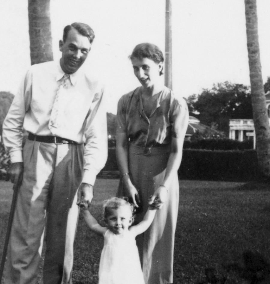 Ruth Iversen Rollitt (inset) with her parents, Berthel and Corry, in Ipoh. PIX COURTESY OF RUTH IVERSEN ROLLITT