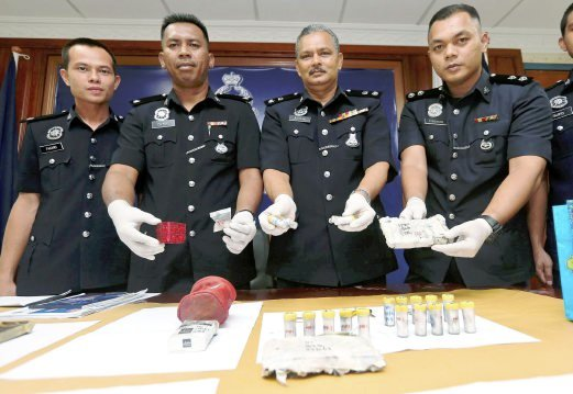 K. T'ganu Police Sweep Yields Four Suspected Pushers, Various Drugs