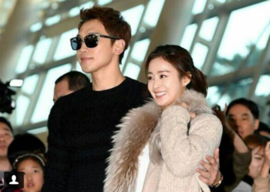 Celebrity couple Rain and Kim Tae Hee spotted on a date | allkpop