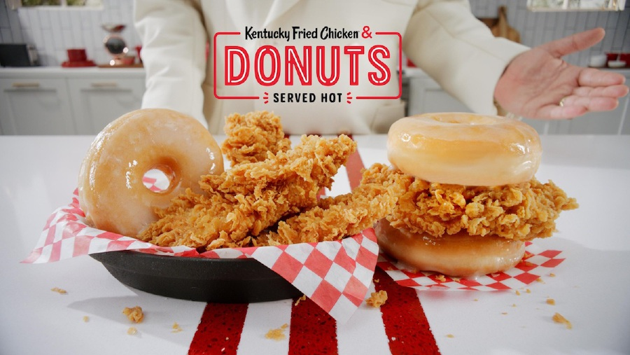 The Chicken & Donuts duo will be available as a sandwich or in a meal basket through March 16 or until supply runs out.