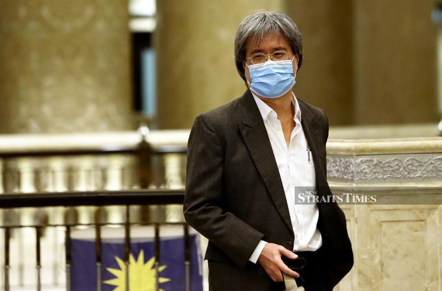 Steven Gan arrives at the court of the hearing. - NSTP/MOHD FADLI HAMZAH