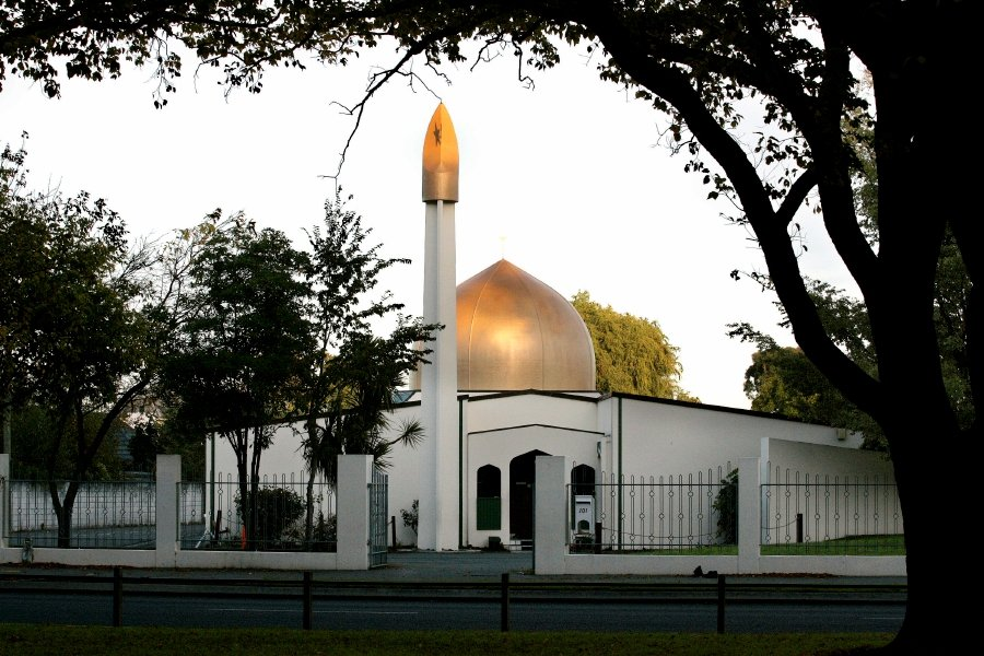 (FILE PIC) - An undated file image shows Masjid Al Noor Mosque on Deans Avenue, the scene of a mass shooting, in Christchurch, New Zealand, 15 March 2019. ( EPA/Martin Hunter)
