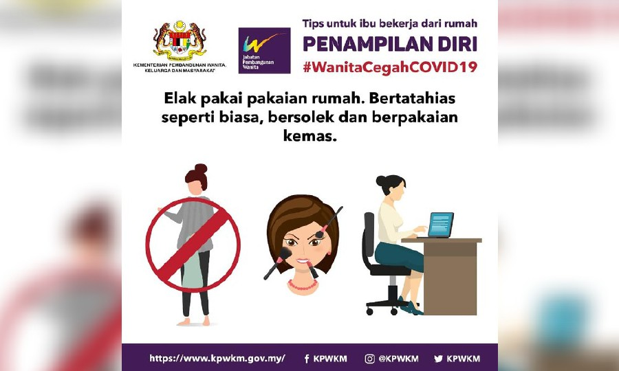 Malaysia urges women to wear make-up during coronavirus lockdown