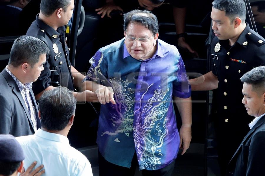 Datuk Seri Tengku Adnan Tengku Mansor was charged at the Sessions Court on Thursday with two counts of receiving RM3 million from property developers. (NSTP/AIZUDDIN SAAD)