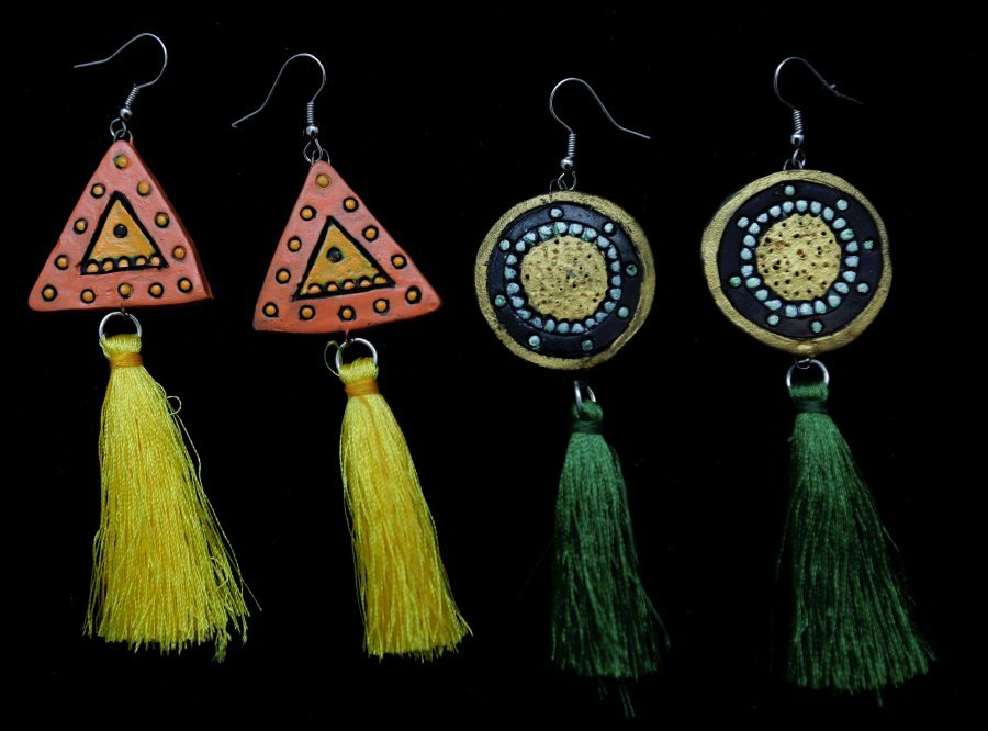 Add a bohemian touch with these earrings.