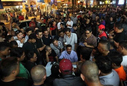 Some of the NGOs at Low Yat Plaza.Pix by Muhammad Asyraf Sawal