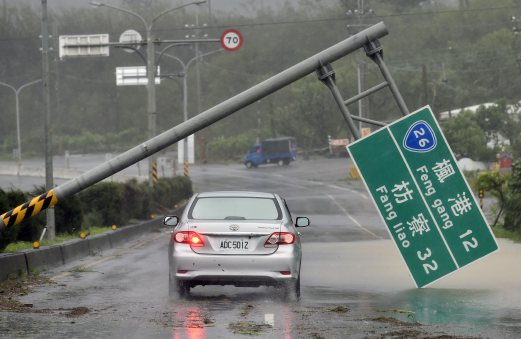 Strongest typhoon in 21 years hits Taiwan | New Straits