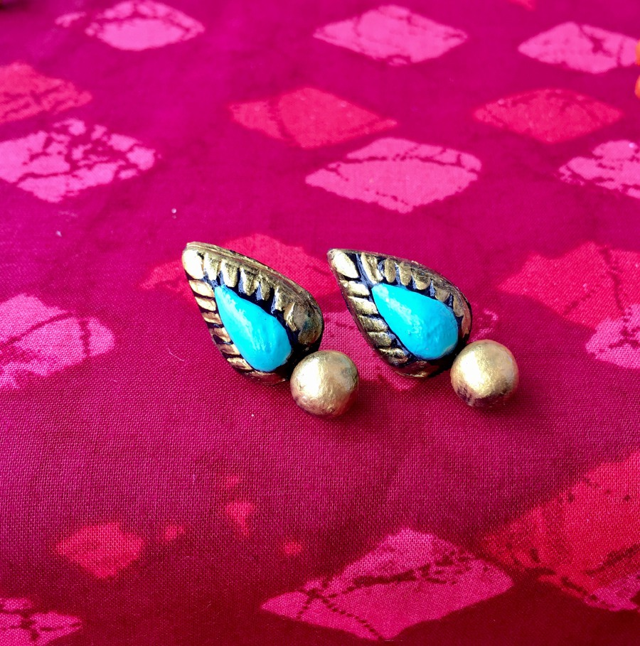 Go blue with these cheerful earrings. Credit: Jni's Diva Handmade.