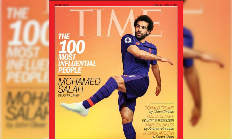 159068e4b ... Salah has another accolade to himself after he was featured on one of  six covers of the Time Magazine s 100 Most Influential People in the World.