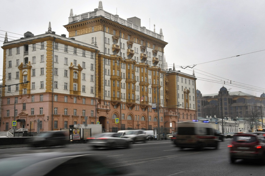 30 2016 the US Embassy housed in a historical building in Moscow. AFP