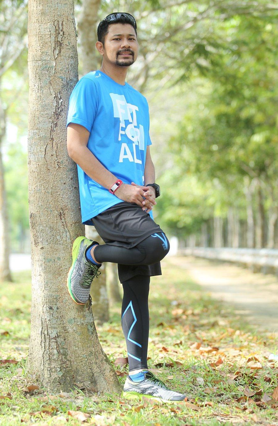 Mohd Dzulkaedah stays focused on his fitness aim.