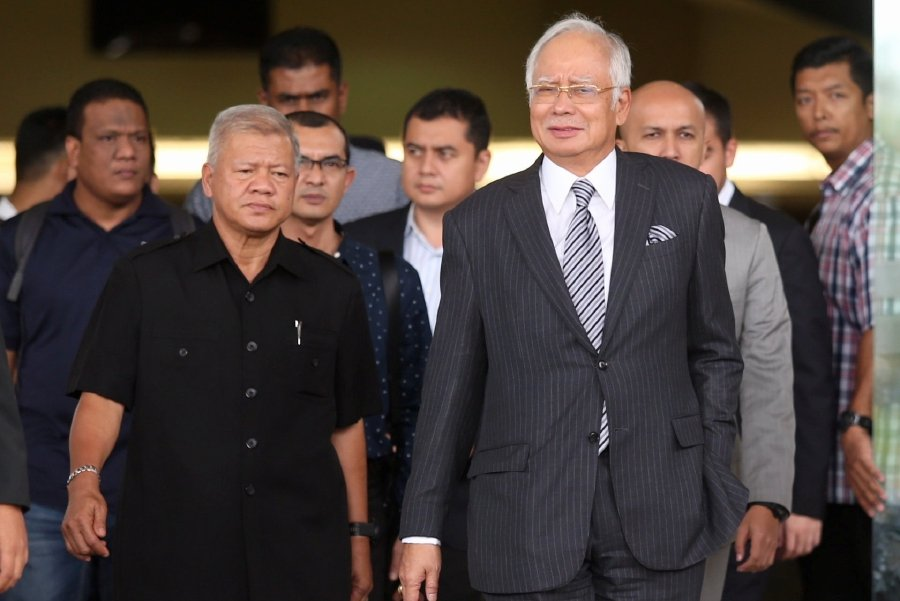 Former prime minister Datuk Seri Najib Razak, seen leaving during a break in court proceedings at the Kuala Lumpur Court Complex. Pic by MOHAMAD SHAHRIL BADRI SAALI