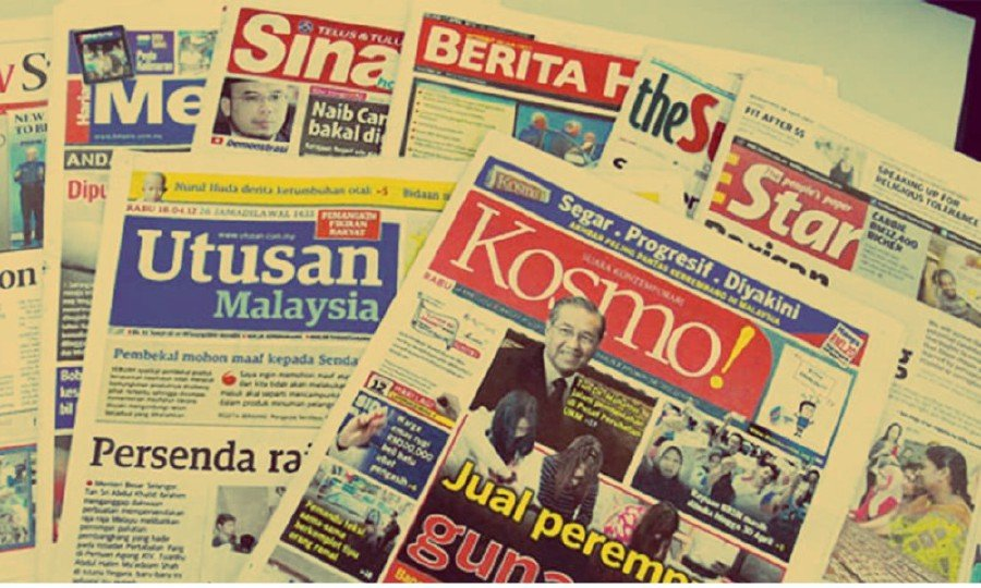 Newspaper vendors in Penang said the situation was dire as they were unable to sell newspapers at shops due to the partial lockdown. -File pic