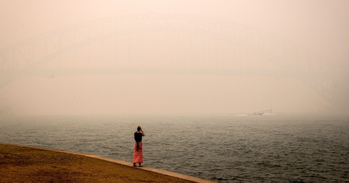 Sydney's haze is so bad, it's triggering fire alarms