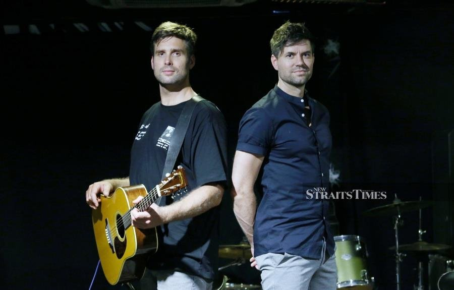 Dutch pop-rock singers and travel show hosts Nick Schilder (left) and Simon Keizer penned a special song for Malaysians. (Picture by NSTP/NURUL SHAFINA JEMENON)