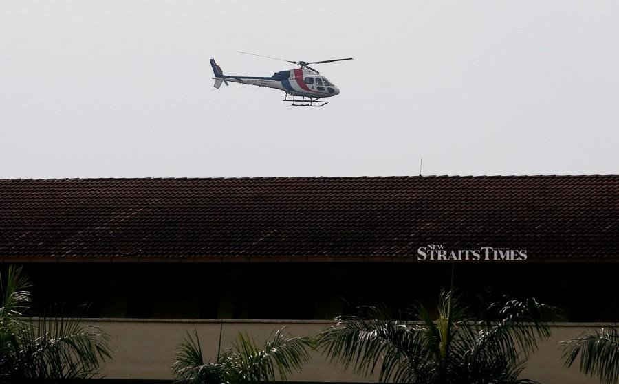 A Airbus Helicopter AS355N equipped with Wescam infrared camera used in the search for the missing teen. -NSTP/Adzlan Sidek.
