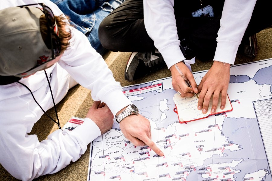 Planning the route.