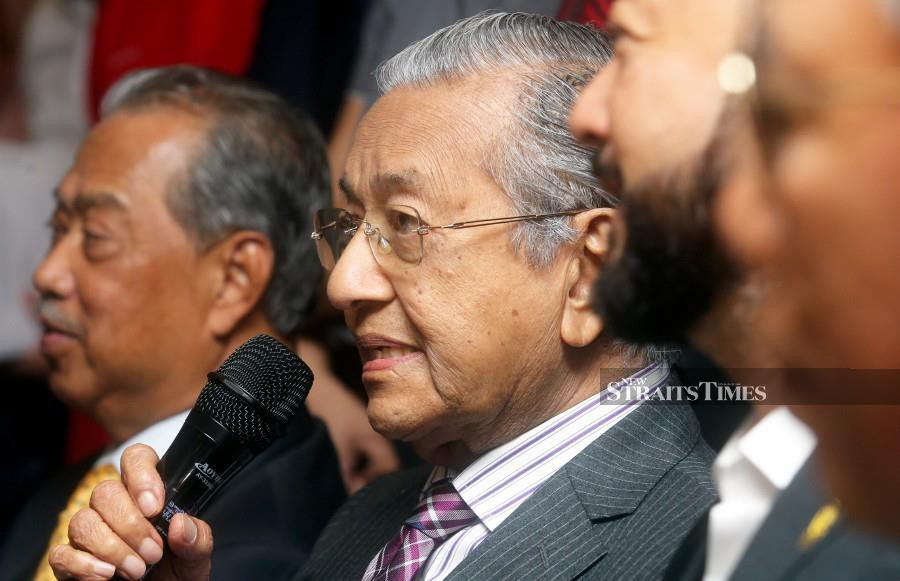 Tun Dr Mahathir Mohamad did not discount the possibility of Parti Pribumi Bersatu Malaysia (Bersatu) nominating its president Tan Sri Muhyiddin Yassin as prime minister candidate. -NSTP File pic