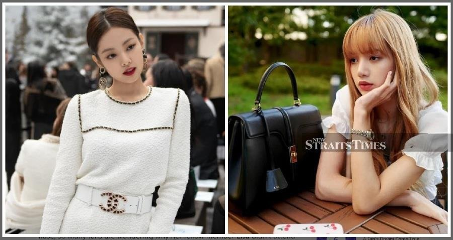 BlackPink's Jennie (left) made a fan in Paris really happy while other fans questioned why fellow member Lisa was not also present at the recent Paris Fashion Week. Pic from Koreaboo