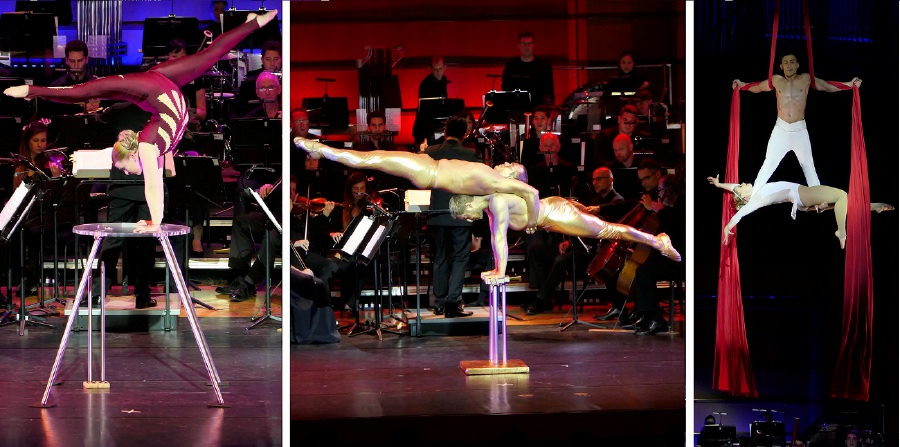 It's not everyday that one gets to see heart-pounding feats of strength and daring acrobatic displays in the DFP, accompanied by live orchestral music. (Picture courtesy of MPO)