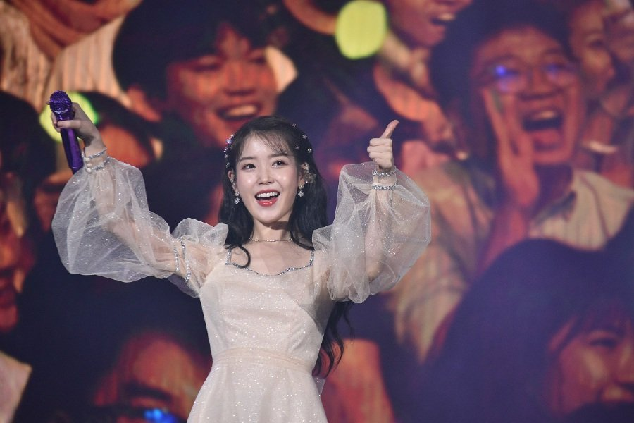 The young K-Pop artiste, IU, was very grateful that her fans sang along loudly to her songs. (Picture courtesy of Galaxy Group)