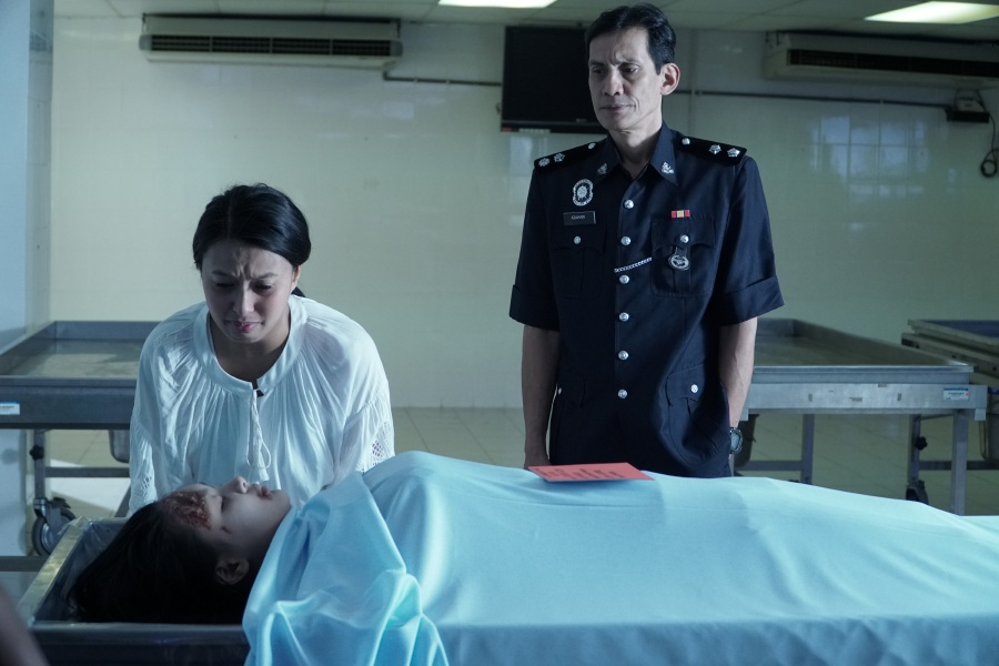 Versatile actress Nabila Huda Suhaimi (left) delivers a gritty and empathic performance as a mother seeking revenge in Mama.