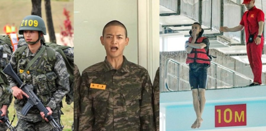 Showbiz: Shinee's Minho looks mighty manly in military training