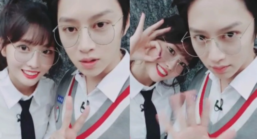 Momo of K-Pop group Twice (left) and Super Junior's Heechul (Picture from Koreaboo)