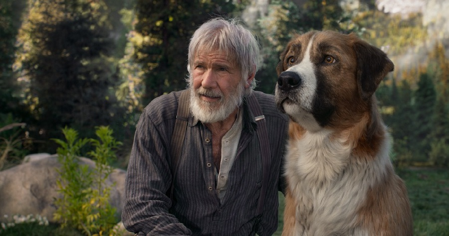 Harrison Ford as John Thornton, who finds companionship with his furry friend, Buck. (Picture courtesy of Twentieth Century Fox)