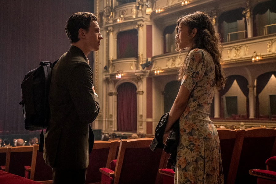 Zendaya (right) as Peter Parker's feisty love interest, MJ. Picture courtesy of Sony Pictures Entertainment (Malaysia)
