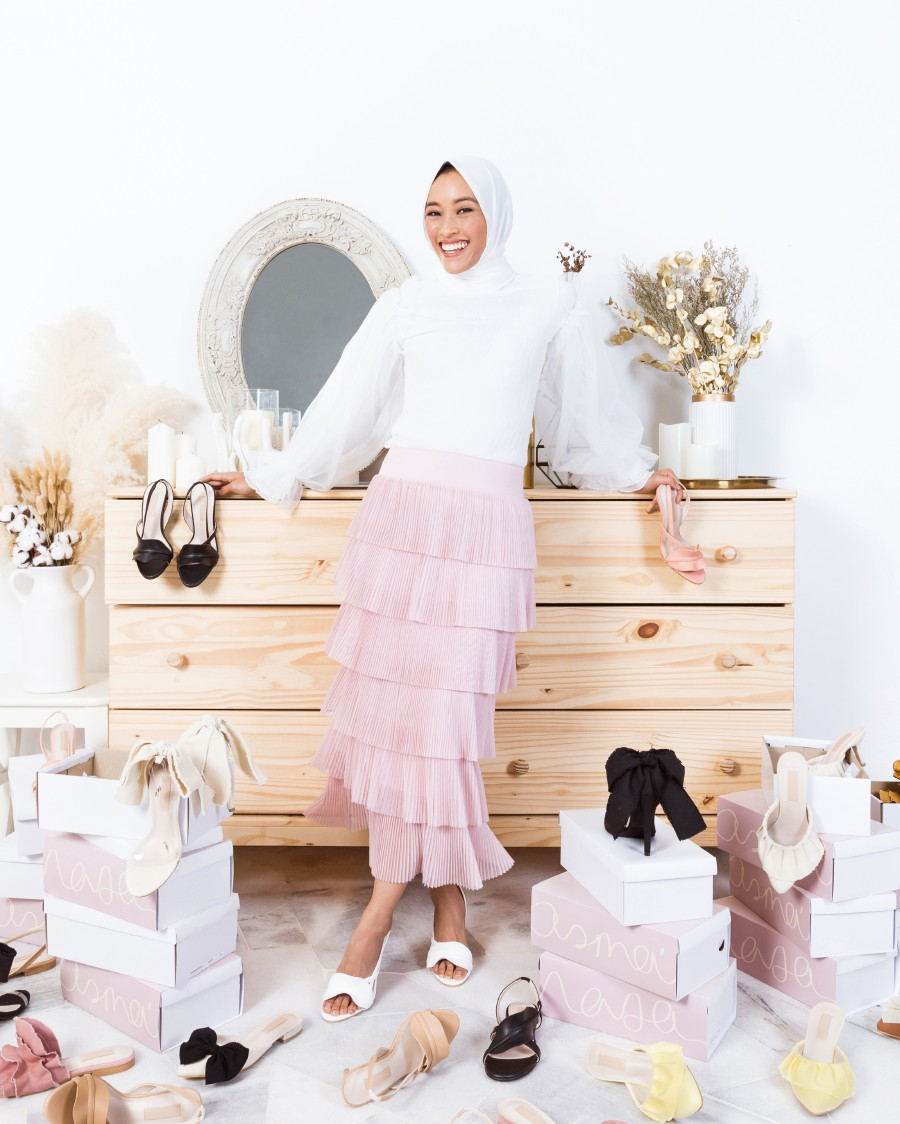 Asma' launched a collection of six shoe designs with Mel & Molly.