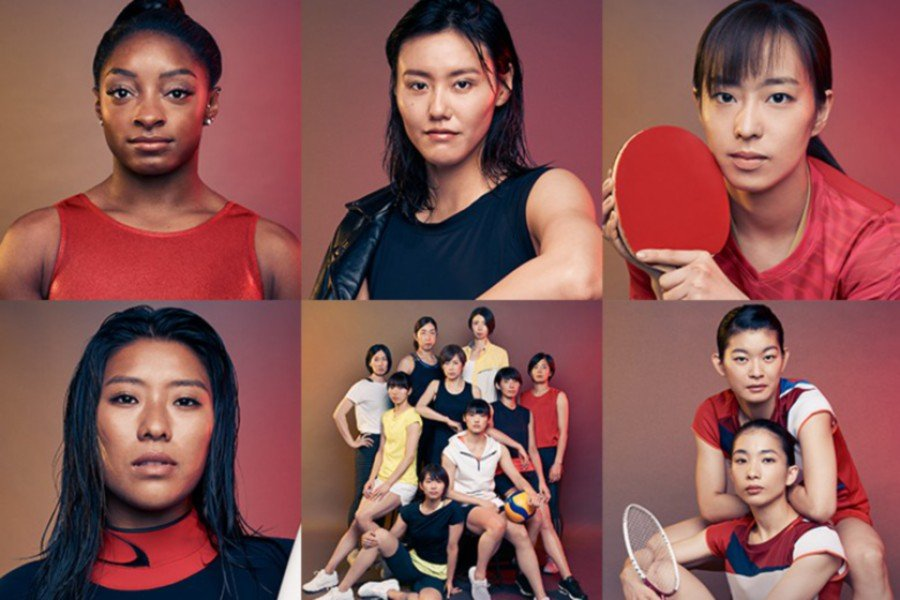 The athletes who face the Beauty is #NoCompetitioncampaign.