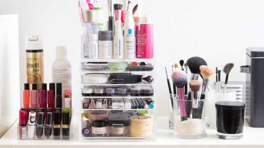 Use the time you have to organise your cosmetic products.