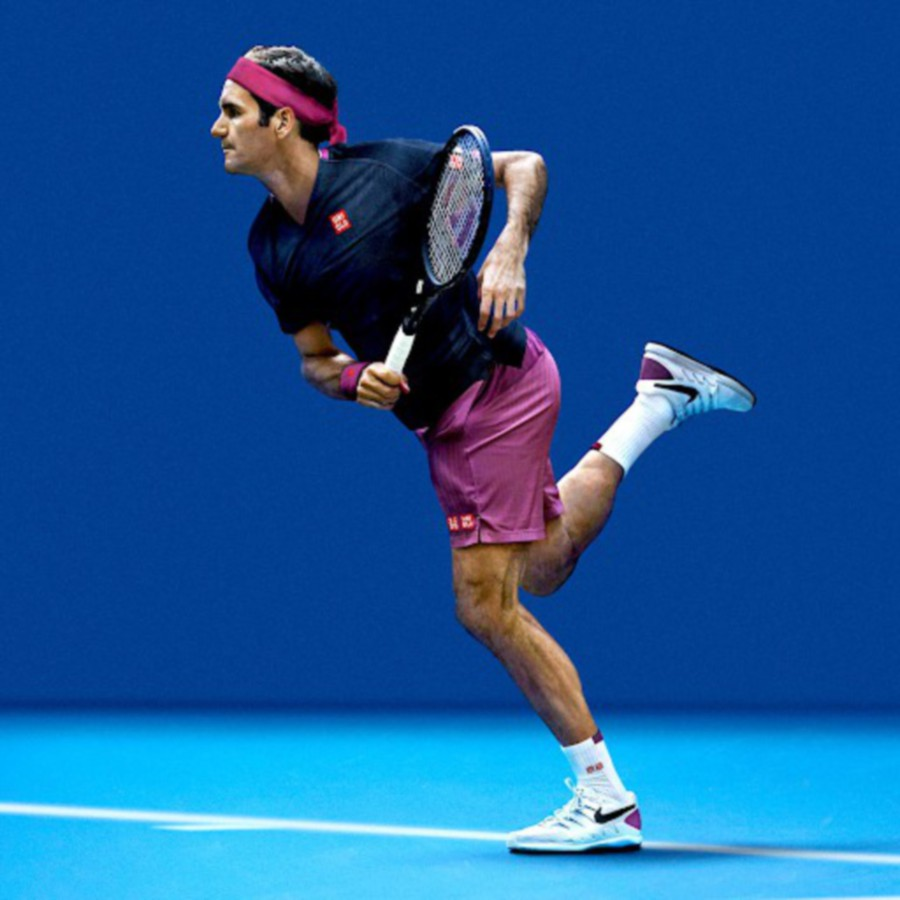 One of Uniqlo's global brand ambassador Roger Federer will don game wear made from Dry-Ex material.