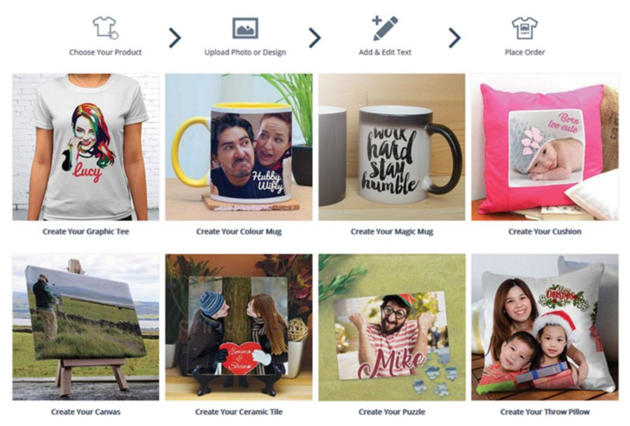 T-shirts, mugs, cushions and puzzles are some of Printcious Gifts' most popular items.