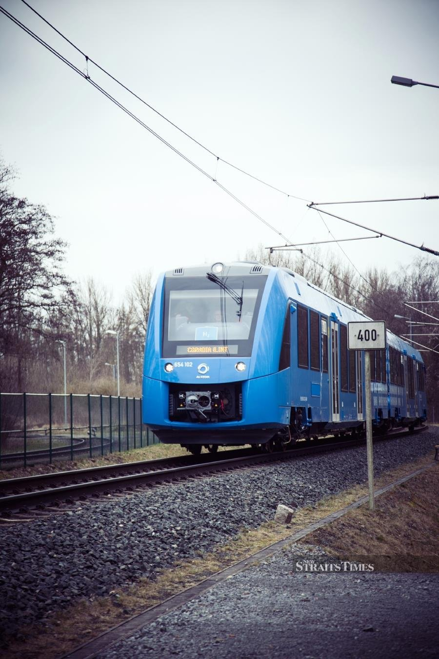 In Germany, the world's first hydrogen-powered trains are being tested on a 100km stretch of track in Lower Saxony.