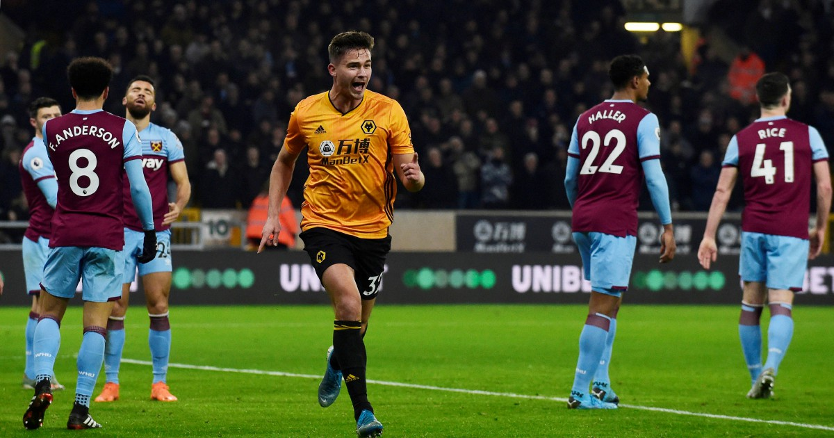 Cutrone on target as Wolves beat West Ham 2-0