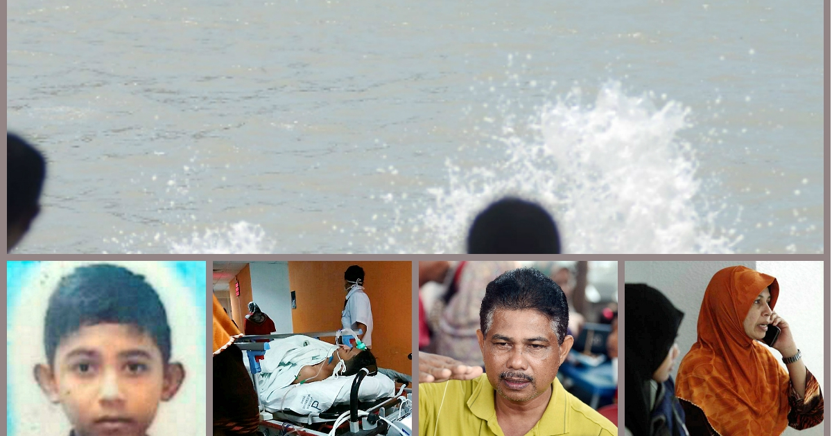 Family outing at beach goes awry, one son swept away by waves and one son warded in the ICU