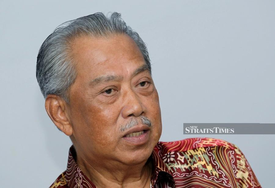 Gabungan Parti Sarawak (GPS) and Pas will continue supporting the current Perikatan Nasional government and Prime Minister Tan Sri Muhyiddin Yassin (pic). - NSTP pic
