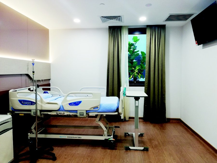 One of the rooms for inpatient care at the new Sunway Medical Centre Velocity. Pic source: Sunway Group